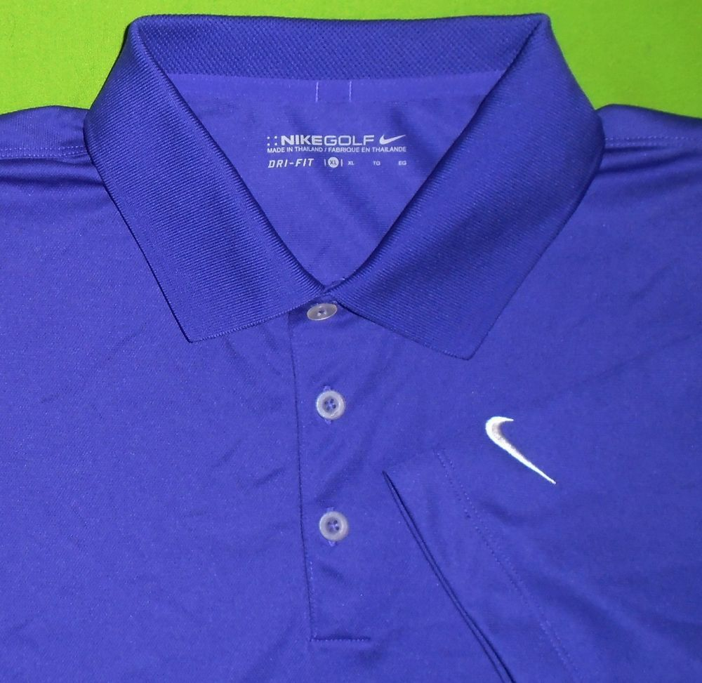 a7227e399 Nike Golf Dri-Fit Wicking Fabric Polo Shirt Dark Purple S S Men size Extra  Large  NikeGolf  PoloRugby