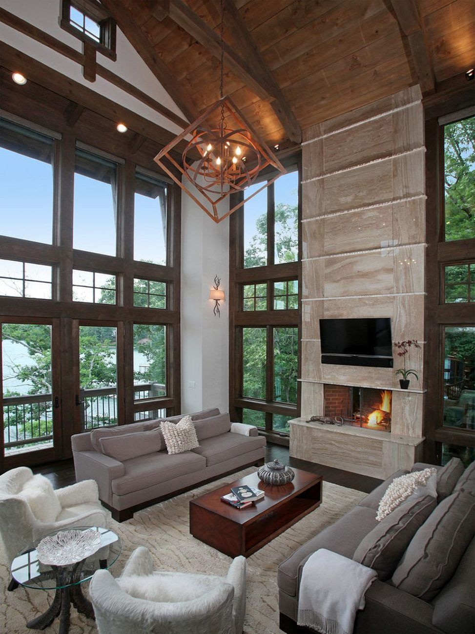 Rustic Modern Style Interior Design Ideas 36 Modern Rustic