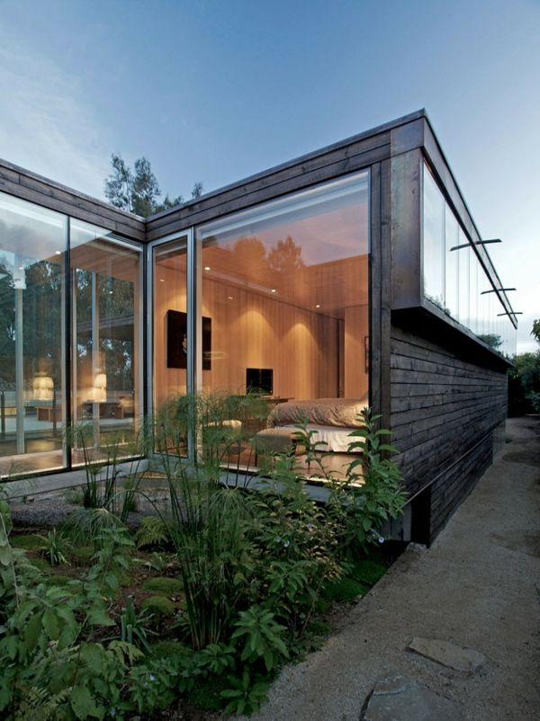 Contemporary Design Garden House by dRN Arquitectos of Santiago