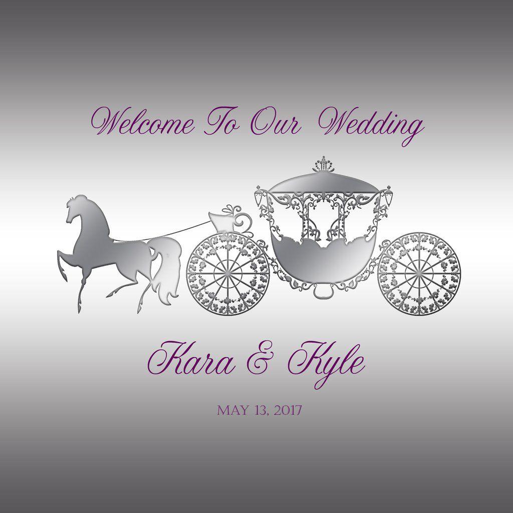 sku662) Cinderella\'s carriage Wedding Welcome Bag labels for hotel ...