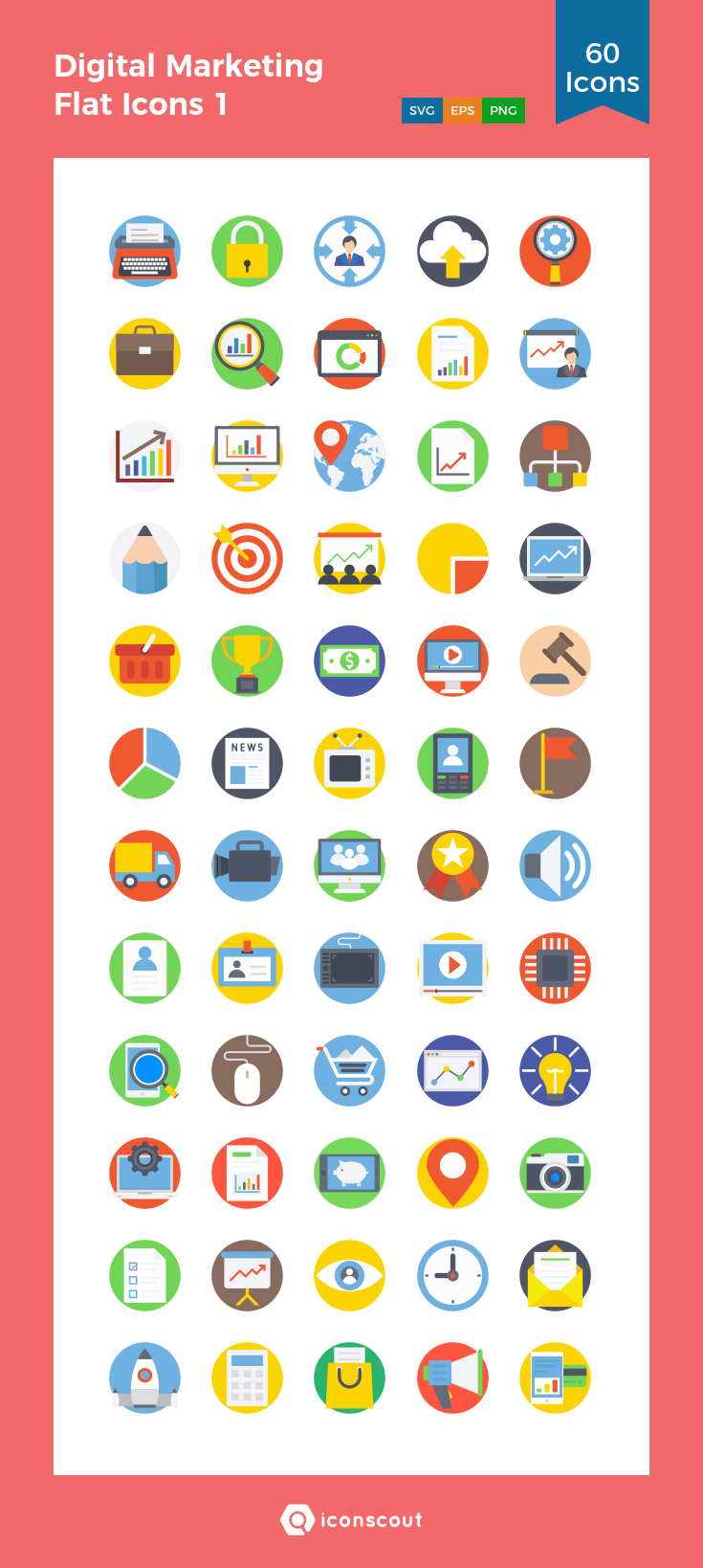 Download Digital Marketing Flat Icons 1 Icon pack ...