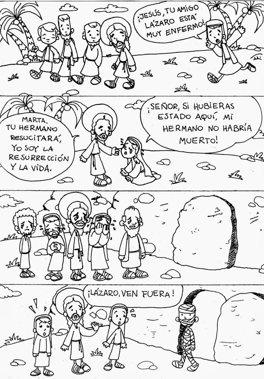 Jesús Resucita A Lázaro Milagros De Jesús Catequesis Historias De La Biblia Para Niños