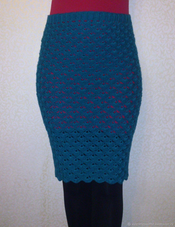 0f592a993f6 Купить теплая вязаная юбка карандаш - тёмно-зелёный