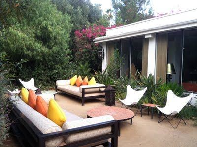 butterfly chairs at the parker palm springs