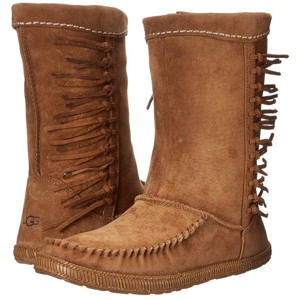Womens Boots UGG Hyland Chestnut Suede