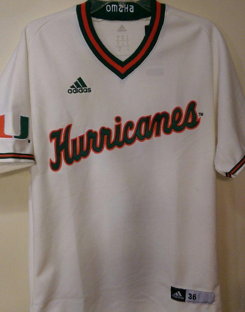 Miami Hurricanes Authentic Baseball Jersey Cream  e34f323a3