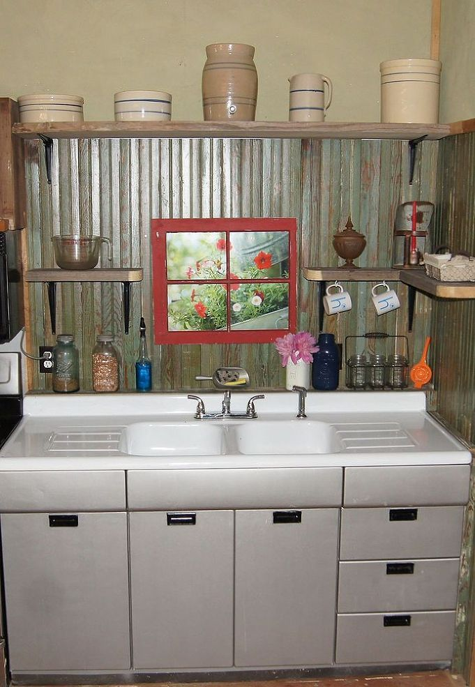 Small Rustic Kitchen Makeover Barbs Small Rustic Kitchens Cabin