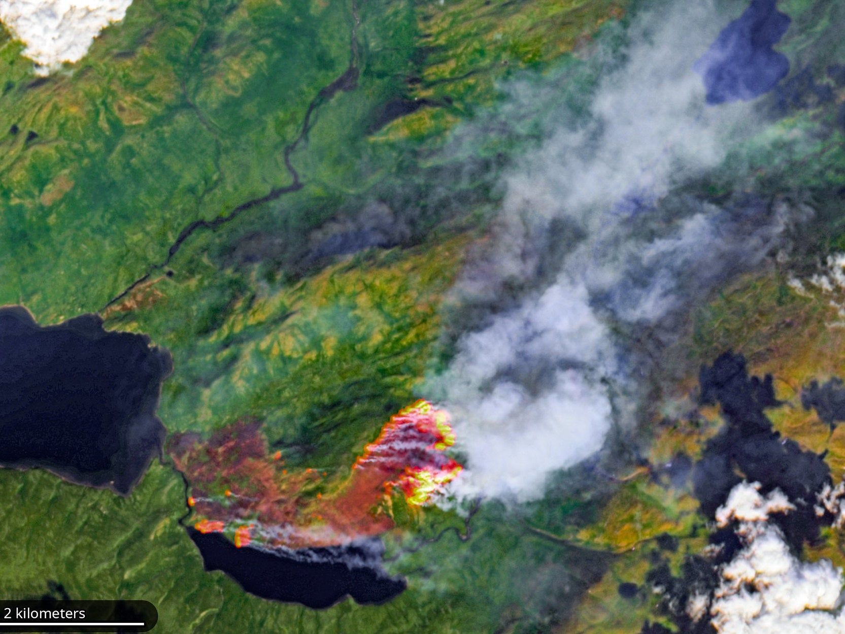 Huge Swathes Of The Arctic On Fire Satellite Images Show