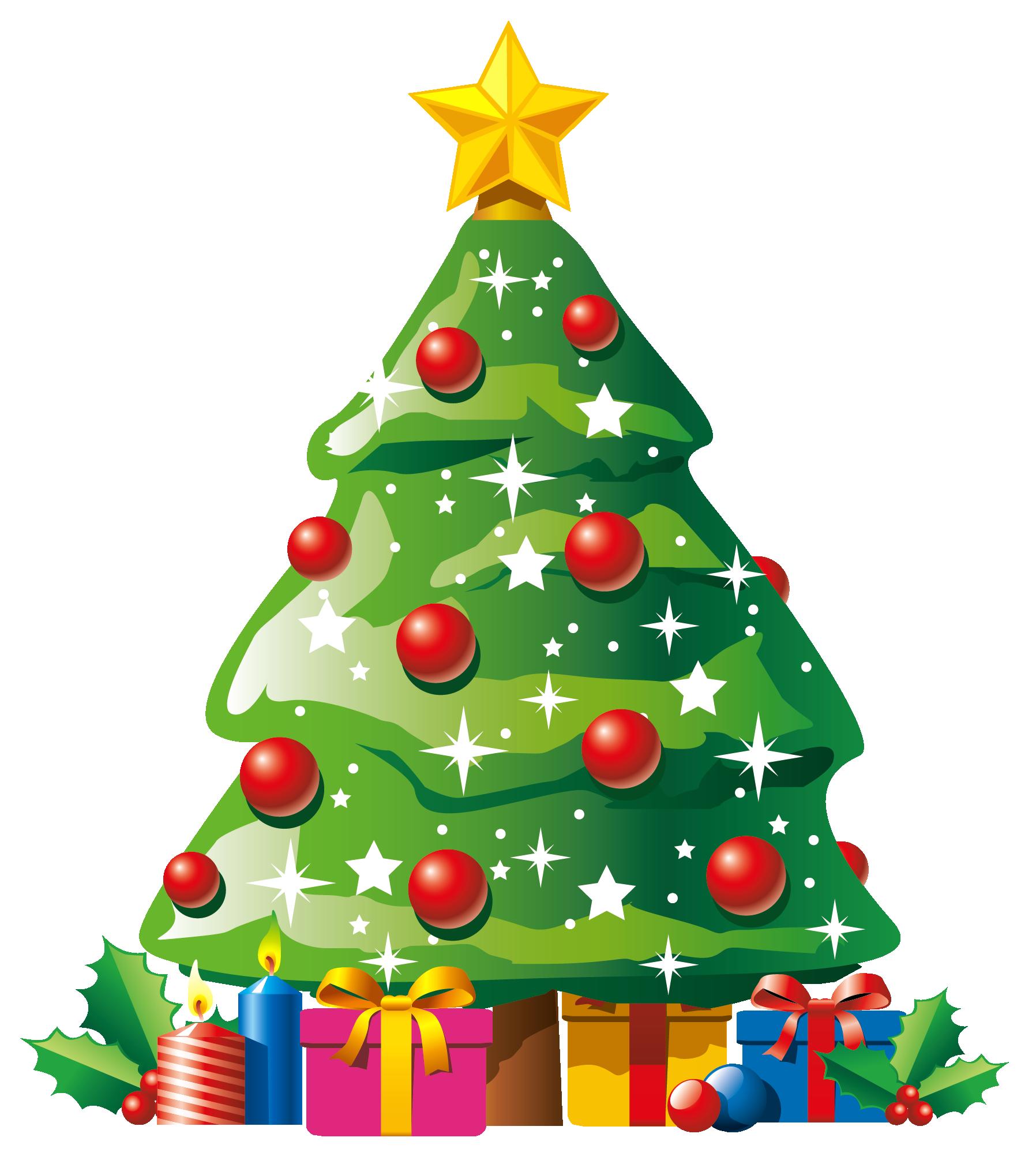 transparent deco christmas tree