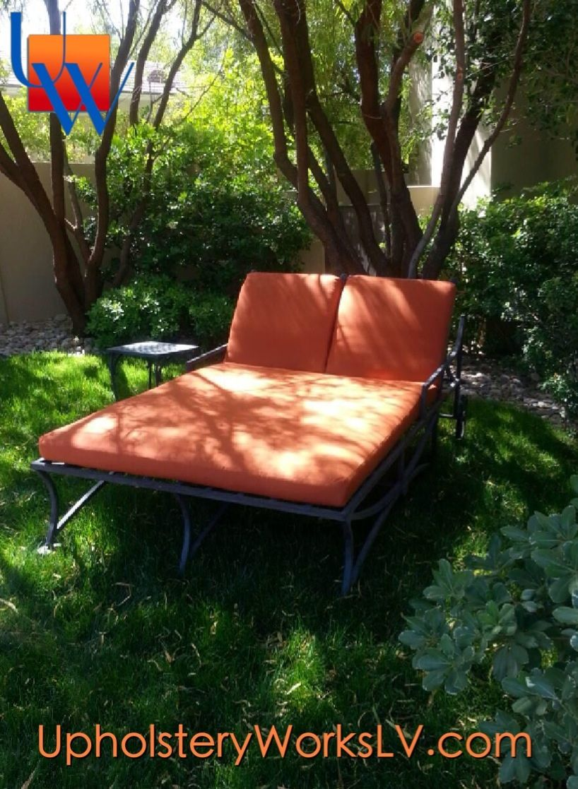 Outdoor Double Chaise Lounge In Sunbrella By Upholstery Works. Las Vegas,  NV Http: