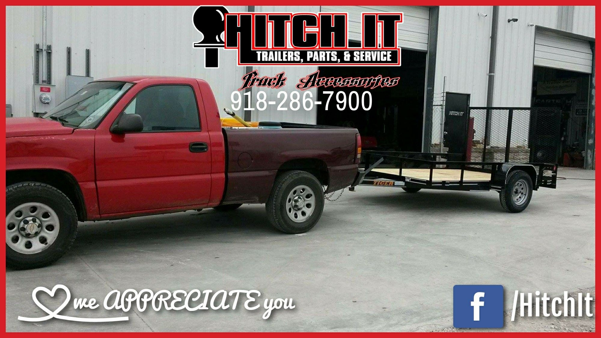 Thank You For Your Lark 8 5 X 16 Trailer Purchase 918 286 7900 Hitch It Trailers Parts Service Landscape Trailers Enclosed Cargo Trailers