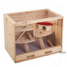 Homemade Wooden Hamster Cage Google Search Hamster Cages Hamster Habitat Mouse Cage