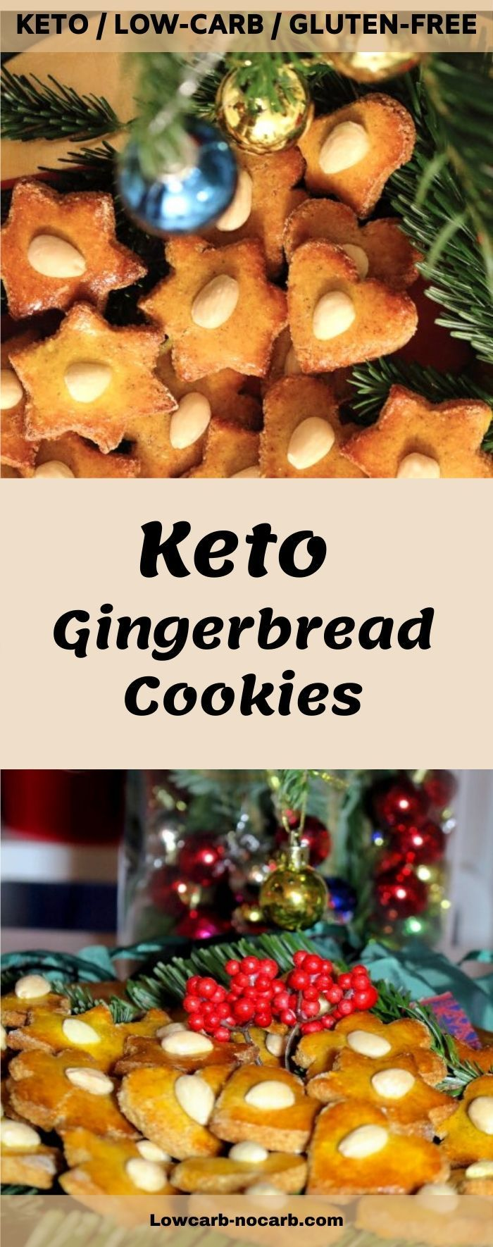 Low Carb Gingerbread Cookies are always a must on our Christmas table #gingerbreadcookies