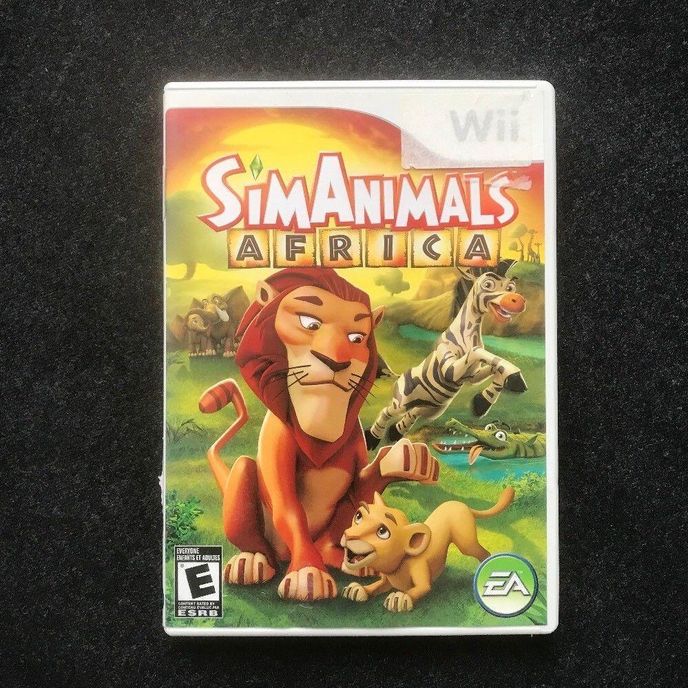 Nintendo Wii Sim Animals Africa Video Game Sim Nintendo African