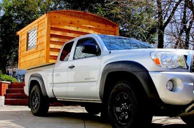The Flying Tortoise: John's Gorgeous Rustic Tiny Truck Camper Featured On Tiny House Swoon...