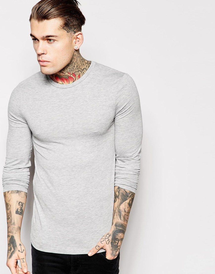 Image 1 of ASOS Extreme Muscle Fit Long Sleeve T-Shirt With Crew ...
