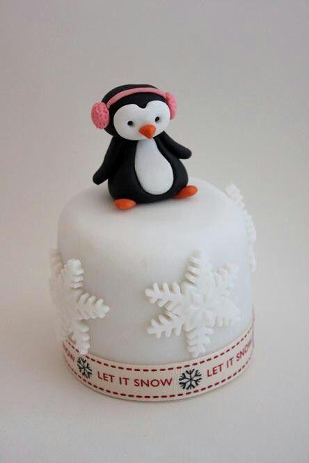 Penguin mini cake