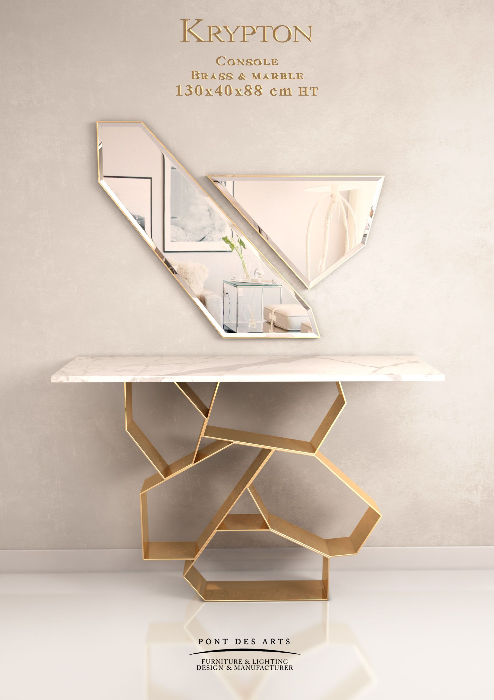 Krypton Console Designer Monzer Hammoud Pont Des Arts Studio Paris Modern Console Tables Interior Furniture Decor