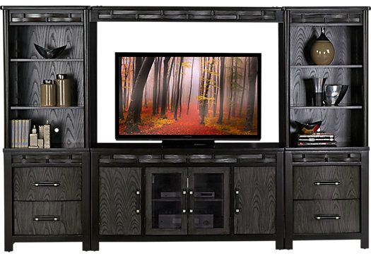 bedford heights gray 4 pc wall unit 116w x 18d x 76h