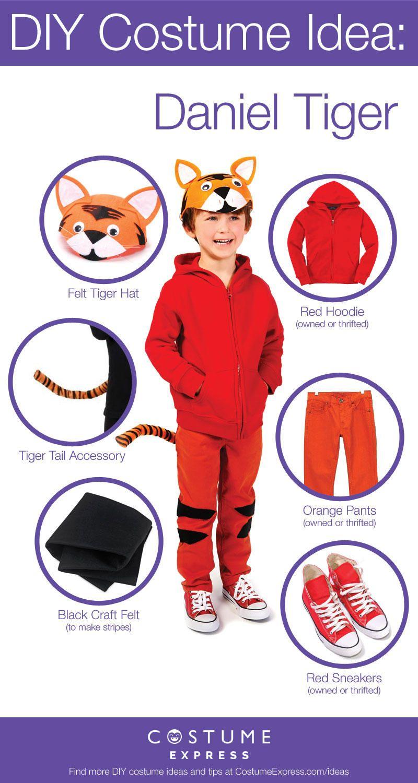 diy daniel tiger costume tutorial october 2016 pinterest