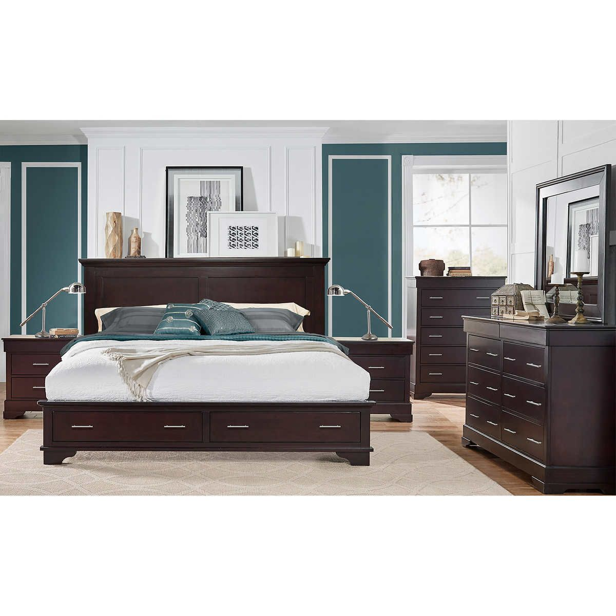 hudson 6 piece cal king storage bedroom set master bedroom ideas rh pinterest com
