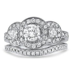 14K White Gold The Chemisa Matched Set, top view
