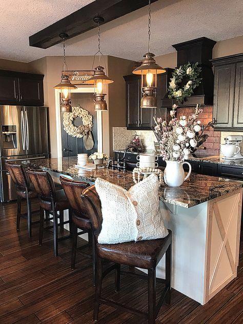 #kitchendesign #kitchenideas #farmhouse #farmhousestyle #farmhousedecor #rustic #rustichomedecor #Rusticbedroom #rustichomedecor