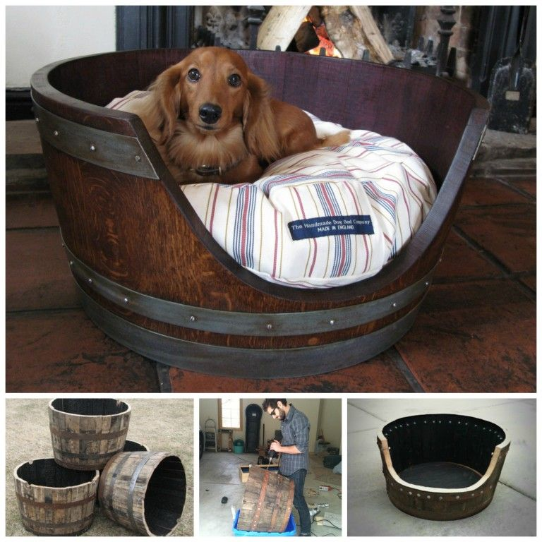 Make a Dog Bed from a Wine