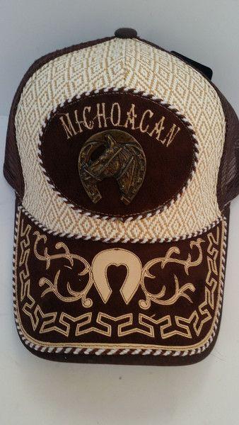 e99bb484807dc Gorra en diseño charro con el estado de Michoacan estampado al frente.