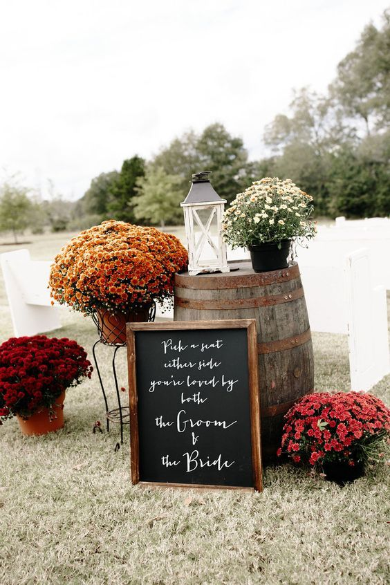 Autumn wedding colors 2019 { Blackberry + Dark Blue + Maroon + Spicy Orange + Wine } -   19 wedding Simple fall ideas