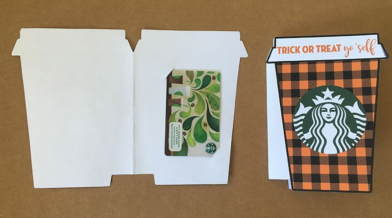 trick or treat yo'self starbucks gift card holder - free