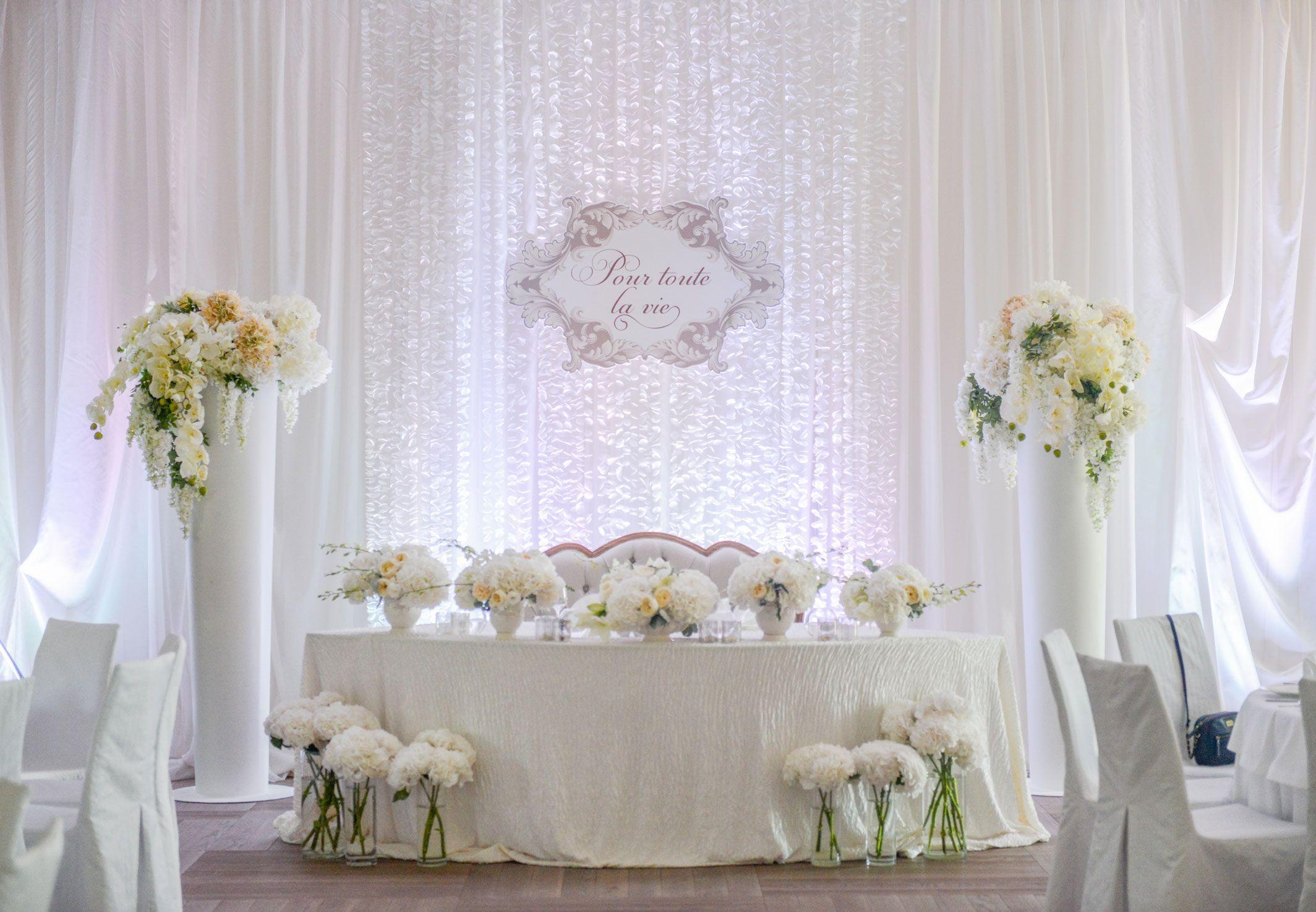 wedding ceremony, wedding decor, sweetheart table decor, wedding ...