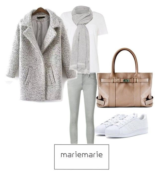 """MarieMarie Cool Inspiration Looks"" by lulusanguinetti on Polyvore featuring moda, Frame Denim, MaxMara, adidas y Oui"