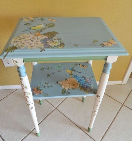 Painted Tables 16 gorgeous blue painted furniture projects | butterfly painting