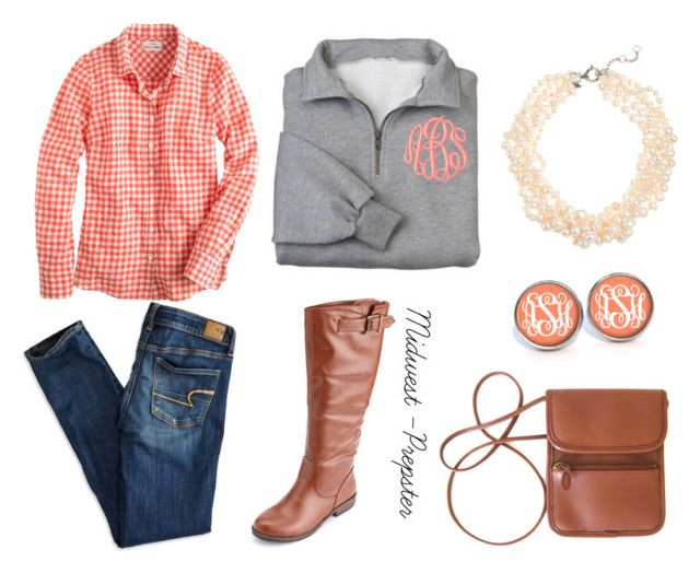 """Untitled #167"" by midwest-prepster ❤ liked on Polyvore featuring J.Crew, American Eagle Outfitters and Charlotte Russe"