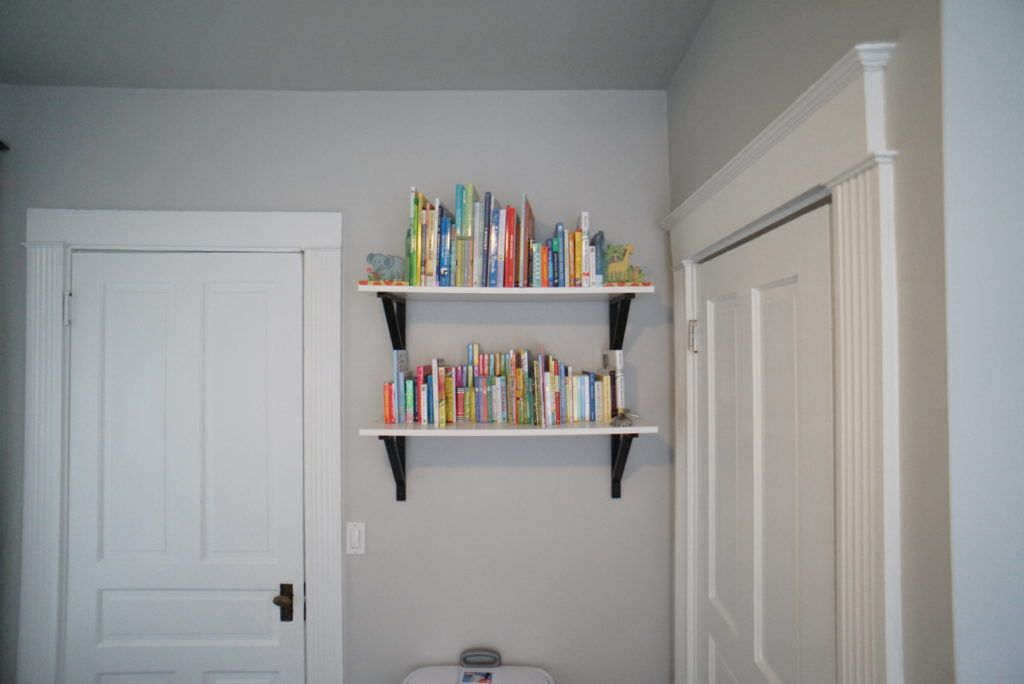 Baby Girls Black White And Gold Nursery Places The Ojays And - Baby bookshelves