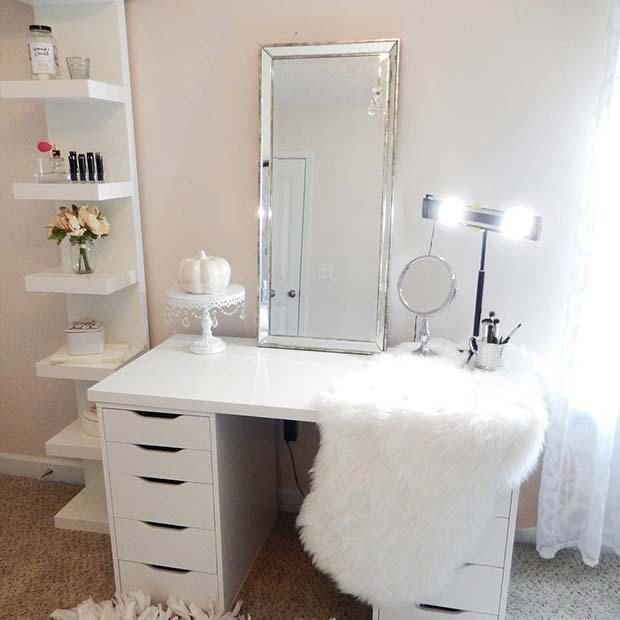 23 must have makeup vanity ideas kezia s room 2 ikea makeup rh pinterest com