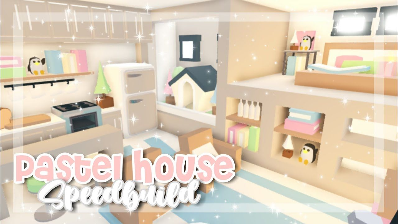Pastel Tiny House Speedbuild Adopt Me Adopt Me Speedbuild Pastel House Cute Room Ideas Cute Bedroom Ideas
