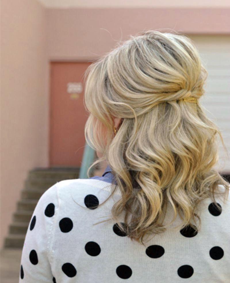 Укладки на средние волосы в домашних условиях фото ...
