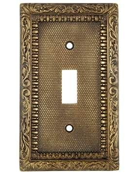 Antique Brass Wall Plates Beauteous 5 Inch Ornate Victorian Style Switch Plate Antique Brass Finish Design Decoration