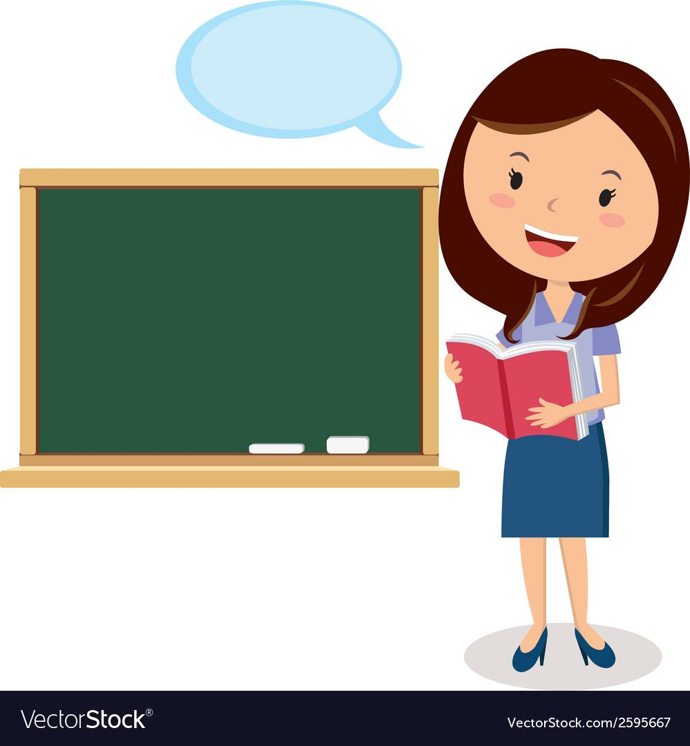 Career Woman Giving Presentation Or A Lecturer Giving A Lesson Download A Free Preview Or High Quality Ad Teacher Cartoon Teachers Illustration Teacher Images