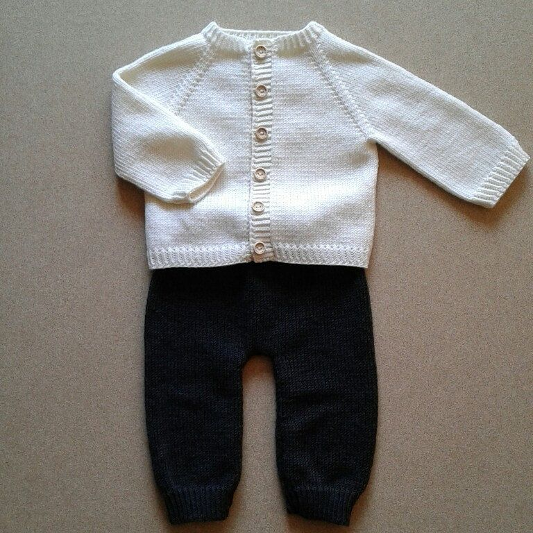 eaa4e89bf799 100% Extrafine Merino Wool Hand Knitted Baby Cardigan and Pants ...