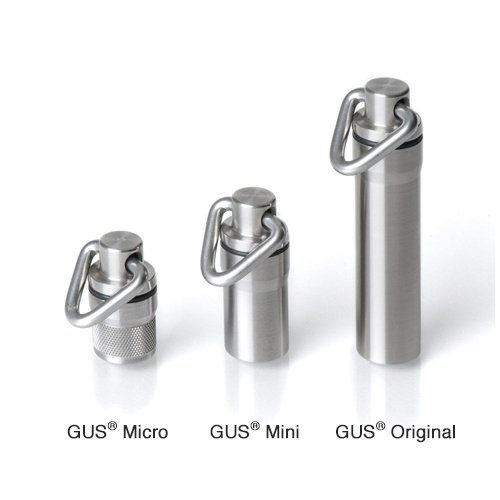 Amazon.com: GUS Original Pill Fob, Made in USA, Stainless Steel Keychain Pill Holder, AAA Battery Holder: Health & Personal Care