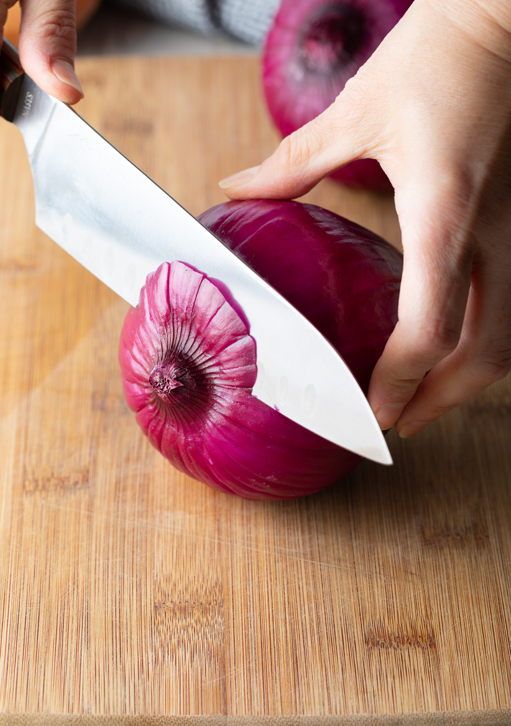 Tutorial On How To Finely Chop An Onion Neatly Efficiently And With Few Tears A Few Tips Accompanied With A Step B Onion Recipes Finely Chopped Onion Onion