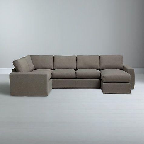 House By John Lewis Finlay Corner Chaise End Sofa Quinn Blue Grey Grey Corner Sofa Comfortable Sofa Sofa