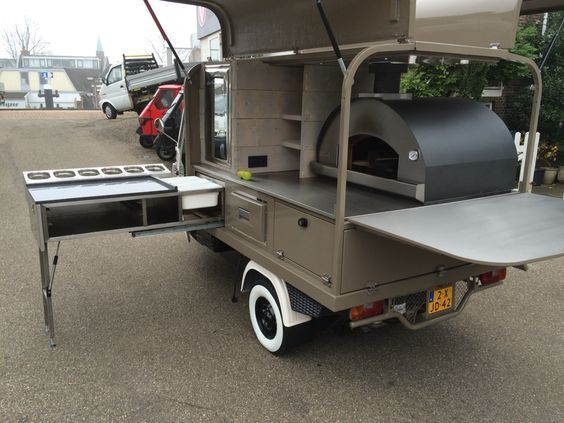 Piaggio Ape Pizza Version Made In Holland Camión De Comida Carritos De Comida Diseño Carrito De Comida