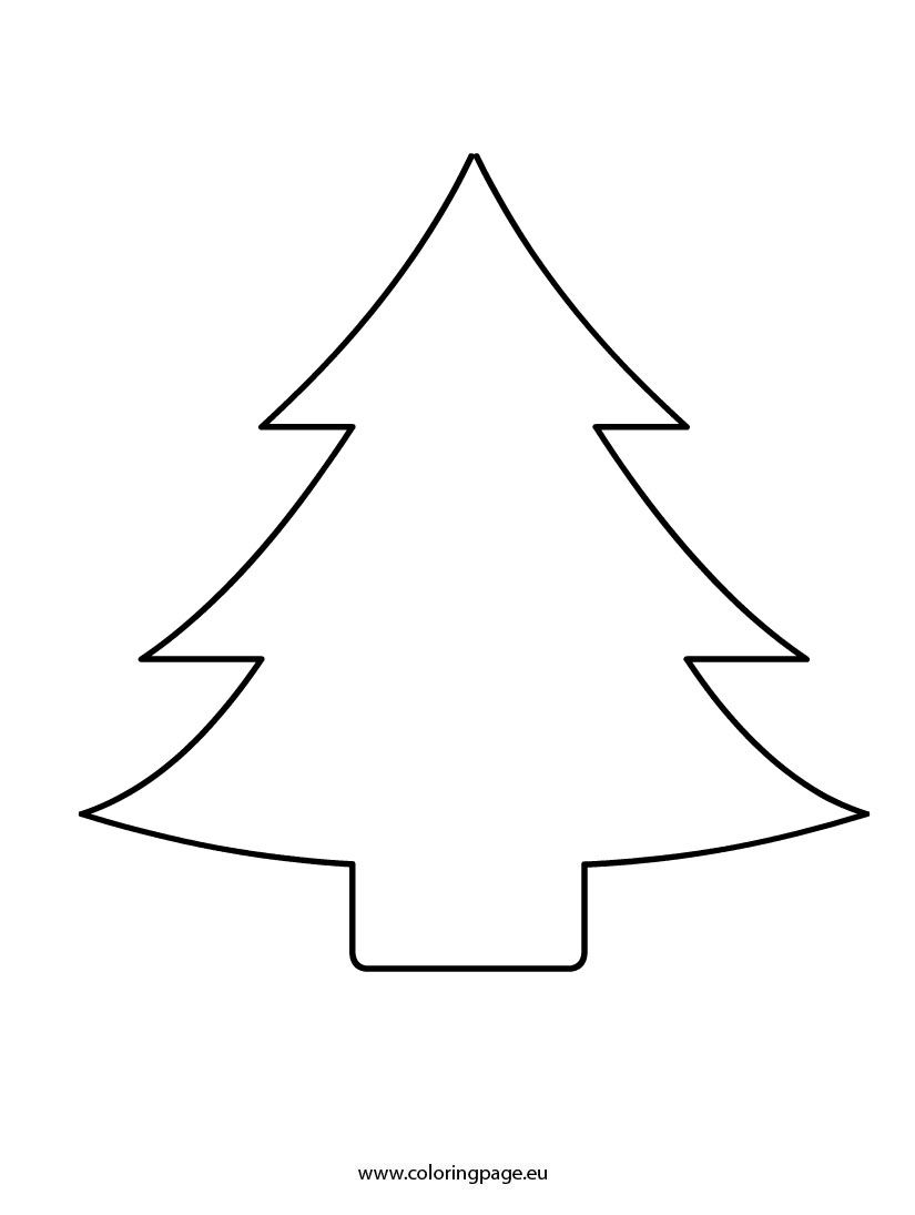 christmas tree cutout coloring page christmas tree stencil christmas tree template christmas tree silhouette christmas tree cutout coloring page