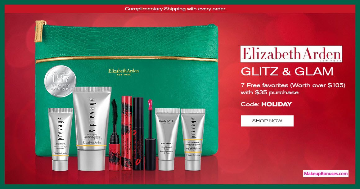 Elizabeth arden 7piece free bonus gift with 35 purchase