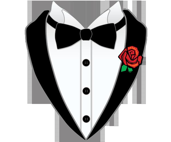 bd6e0cab1 An Illustration Of A Black Bow Tie White Shirt And Tuxedo Collar   clif art  for cooler   Wedding glasses, Clip art, Tuxedo