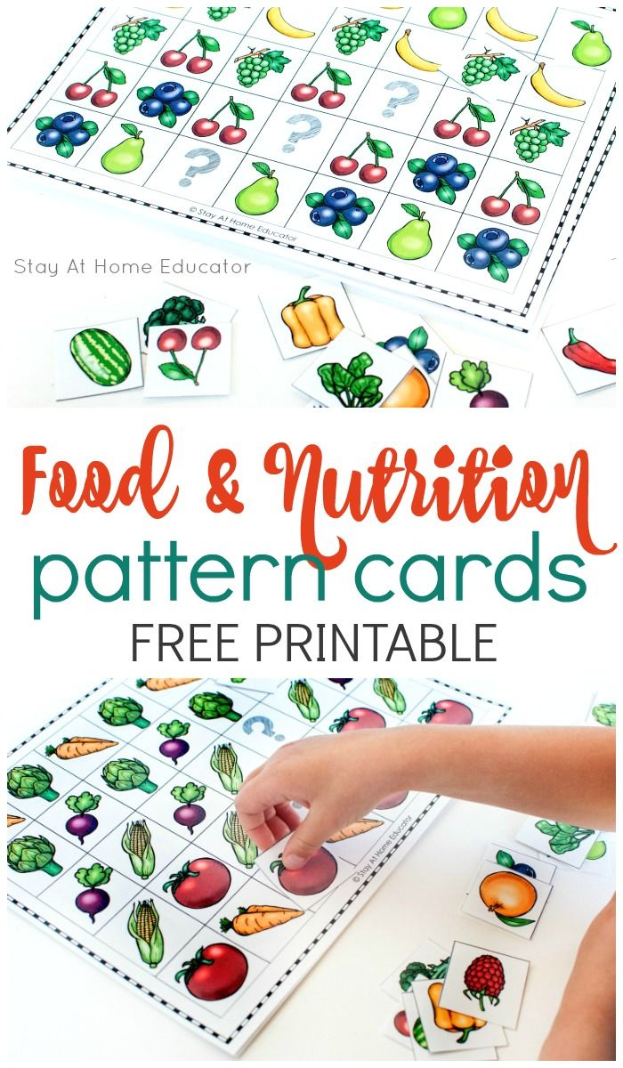 6 Preschool Math Activities for a Food and Nutrition Theme